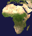 Satellite view of Africa: Source NASA